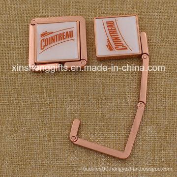 Custom Metal Table Top Square Shape Bag Hanger for Ladies
