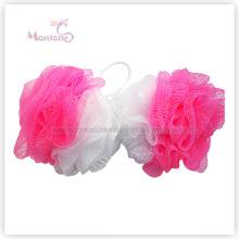Badezimmer Produkte Zwei-Farben-Puff Mesh Badeschwamm Bad Ball