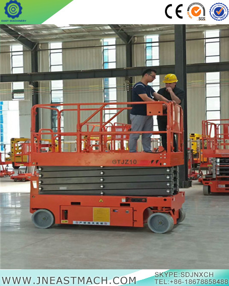 Self Propelled Scissor Lift Mobile Lift Platform Portable Work Platform