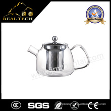 Wholesale Heat Resistant Clear Glass Teapot with Infuser