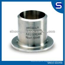 Tubería y accesorio de acero inoxidable 304,316 Extremo corto
