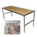 Stainless Steel Dinning Table With Acrylic Tabletop