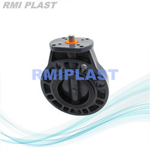 PVC Bear Head Butterfly Valve For Pneumatic Actuator Install