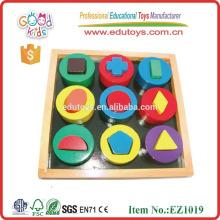 EZ1019 OEM 12 Formas geométricas Bloques educativos de madera para el bebé