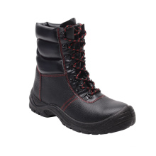 Casual Style Split Embossed Leather & PU Safety Boots (HQ03058)