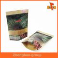 El surtidor de Guangzhou OEM al por mayor imprimió el grado alimenticio se levanta el bolso de papel de la cremallera