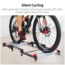 Roller Trainer Stand Bicycle Exercise Bicycle Accessories Training Indoor Silent Folding Trainer Aluminum Alloy for MTB Road Fitness Bike