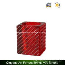Cube Glass Tealight Candle Holder for Home Decor Afch-F6074