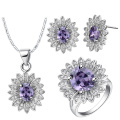 Blue Topaz Micro Setting 925 Silver Jewelry Set Wholesales