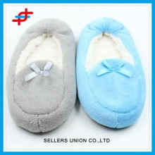 Winter home slipper socks of solid color for young girls,super soft and warm for 2016 winter wholesale
