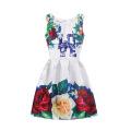 La venta caliente del verano de la niña imprimió diseños del vestido sin mangas del cabrito viste el vestido del niño de la muchacha de flor