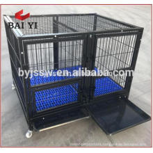 Heavy Duty Square Tube Dog Cage Kennel with four wheels For Sale(Whatsapp: +86 13331359638)