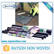 suelo de jardinería cubierta plantas pp tela tejida de color negro como cubierta de suelo
