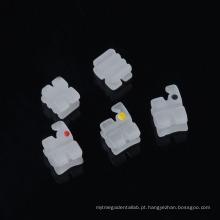 Orthodontic Ceramic Bracket Dental 5 * 5 Mbt Slot 018 Ceramic Brace