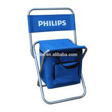 Dobrável assento cadeira fezes ao ar livre gramado portátil dobrável cadeira de pesca com coolerbag