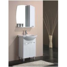 Boden-Standing Gloss Painting MDF Badezimmer-Eitelkeit mit Spiegel