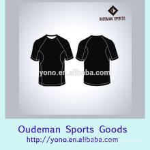 Custom made sublimated print blank fitness wear man's t-shirts
