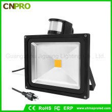 Sensor de iluminación de techo de calle y pared Sensor de movimiento PIR 50W Flood Light LED