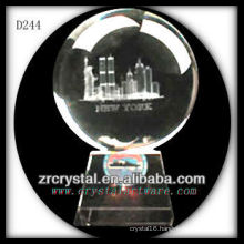 K9 3D Laser Building Model Inside Crystal Ball