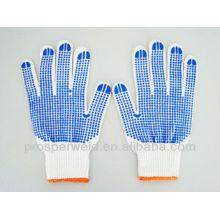 Luvas pontilhadas de PVC