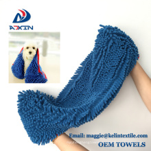 High Quality Ultra Absorbent Microfiber Quick Drying Chenille Dog Bath Dry Towel