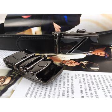 Cintos de couro preto para homens (HPX-160801)