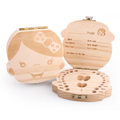 Wooden Baby Tooth Storage Box Tooth Save Box