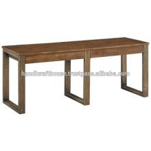 Banc de cuisine vintage en métal et en bois