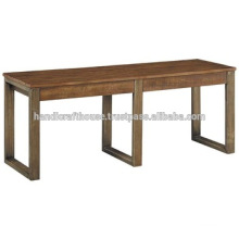 Industrial Vintage Metal and Wood Dining Bench