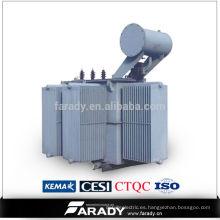 Transformador trifásico Immergido en aceite 15kv 630kva transformador eléctrico