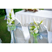 Premium quality polyester chair cover for wedding,garden chair cover