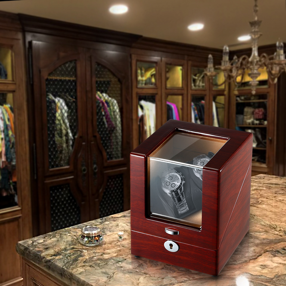 watch winder box in living room