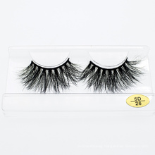 3D 5D Luxury 25mm Eyelashes Wholesale Mink Lashes with Customized Packaging Box
