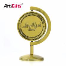 Handwerks-Hersteller-kundenspezifische drehbare Preis-Goldmetallsport-Medaille mit Metallmedaillen-Sitz