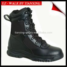 Botas de combate de cuero negro ligero