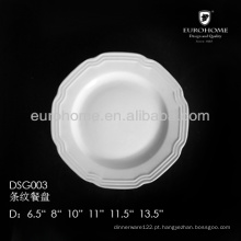 11 ou 12 polegadas placa de jantar de porcelana, placas de jantar por atacado