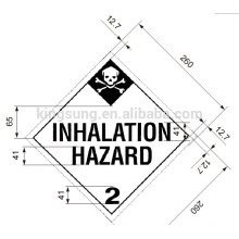 Harzard class sticker label inhalation hazard label
