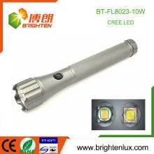 Fabrik Großhandel Best Heavy Duty Metall Taktische 10W Cree xml2 t6 Große große leistungsstärkste LED Taschenlampe mit 3 * D Batterie