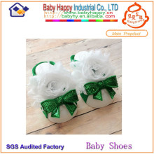 New style sequins and lace flower baby shoes ornament