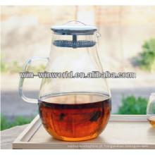O vidro claro dobrável isolou o jarro de água fresca de filtro de aço inoxidável