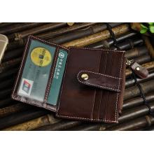 Titular de cartão de clipe de dinheiro de couro PU de alta qualidade por atacado (HJ8104)