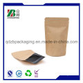 China Manufacturer Stand up Ziplock Kraft Paper Bag for Coffee Tea Packaging
