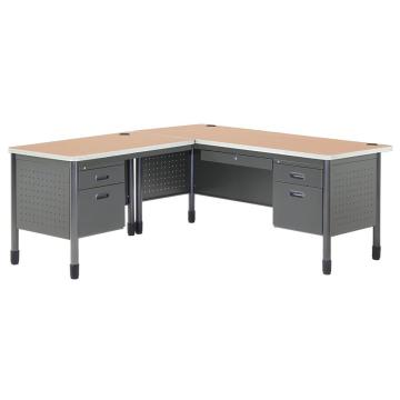 Металл L Shaped Office Desk