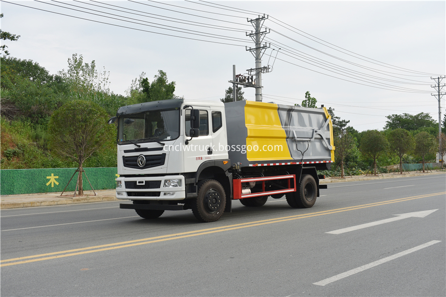municipal solid waste collection truck