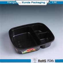 Embalaje de plástico para 3 compartimientos Bento Box