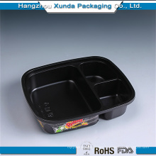 Plastic Packing for 3 Compartment Bento Box