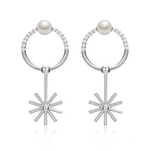 Цена по прейскуранту завода-изготовителя Хорошие серьги перлы славные серьги перлы и cz привесные для девушок