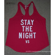 Red Cotton out Door Sport Wear Tank Tops for Run