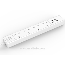 ORICO OSC-4A4U-UK desktop 4 AC Outlets with 4 USB Charger 5V 4A 20W power strip