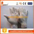 7 Gauge 4 Thread Natürliche Baumwoll-Polyester Strick-Arbeits-Handschuhe Dck704